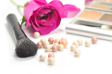 rose, cosmetics and make up tool photo