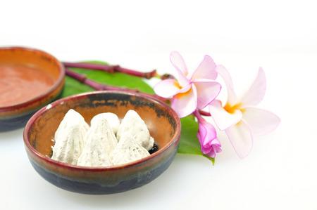 white clay powder, SPA background