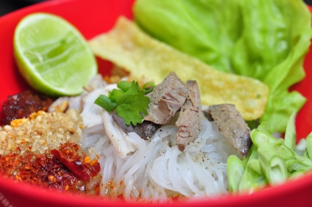 Thai noodle with soup, Kuay tiew   photo