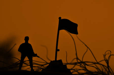 silhouettes of solder