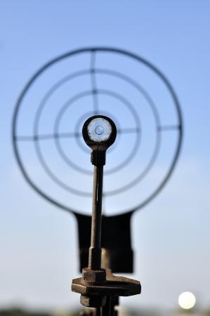 Target with gun
