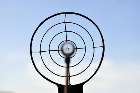 Target with gun Stock Photo