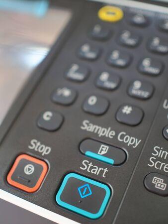 copy machine: button on copy machine