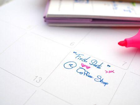 memo: memo on calendar