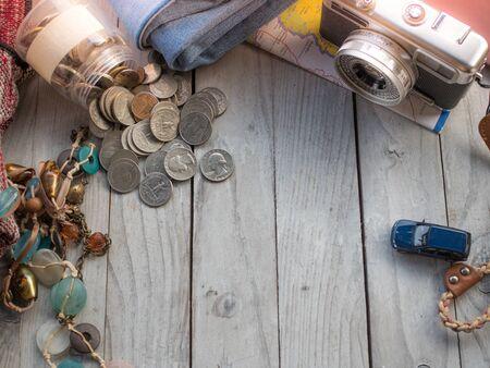 save money travel concept Stock Photo