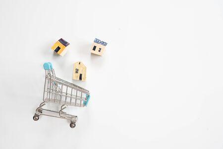 house model on shopping cart