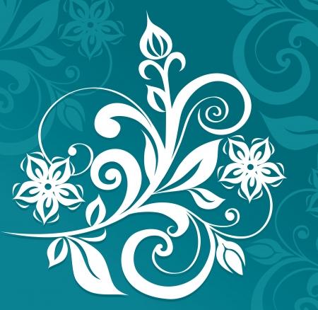 scratches: Floral ornament