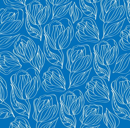 leave: Abstract blue ornament  Illustration