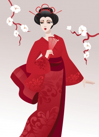 patterns japan: Pretty geisha
