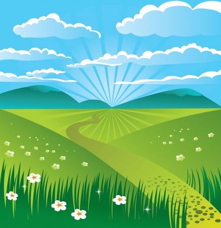 Summer landscape Stock Vector - 15821240