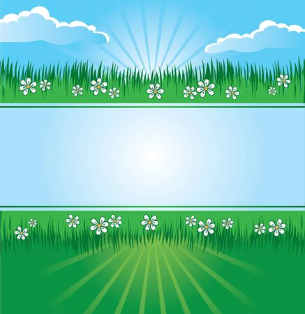 Summer landscape banner Stock Vector - 15821359