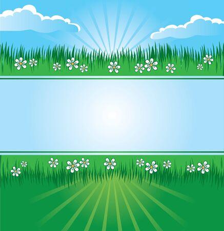 Summer landscape banner Stock Vector - 15821359