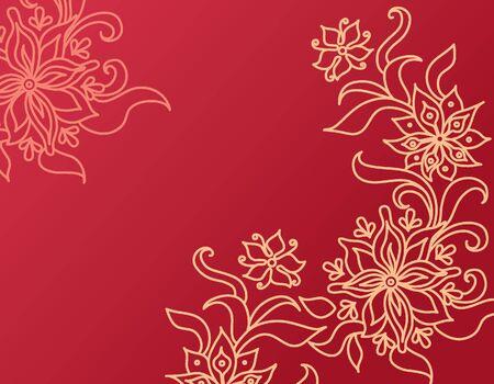 Flower background, vector illustration Stock Vector - 15857952