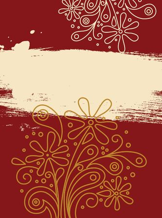 Beautiful floral banner  Vector