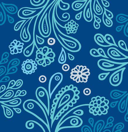 artistic flower: Floral background  Illustration