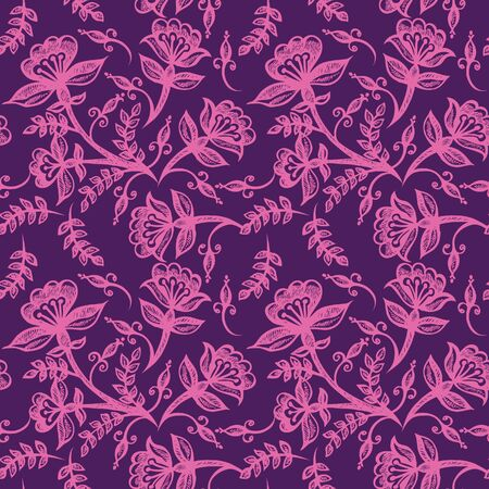 purple silk: Floral seamless ornament