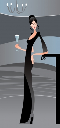 Sexy mujer y el paty