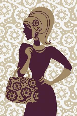 ladies bag: Fashion shopping girl