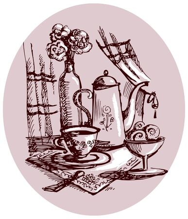 sugar spoon: Still-life sketch