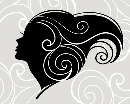female silhouette: Beautiful woman silhouette