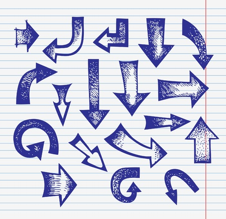 Set of hand drawn arrows Stock Vector - 15858358