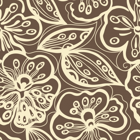 ornamental plant: Seamless floral pattern