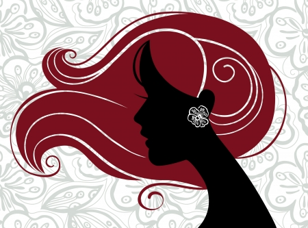 sexy woman silhouette: Beautiful woman silhouette