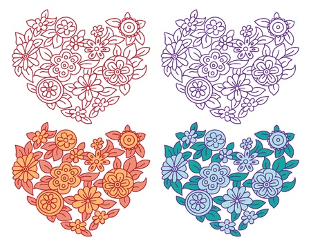 Set of valentine s hearts Stock Vector - 15858557