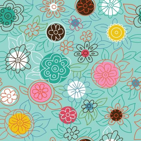 Jednolite kwiatowy wzór Ilustracje wektorowe