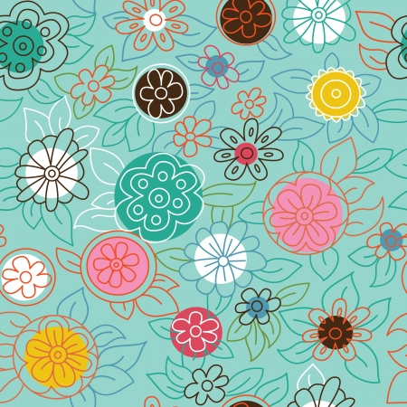 cute wallpaper: Patr�n floral sin fisuras Vectores