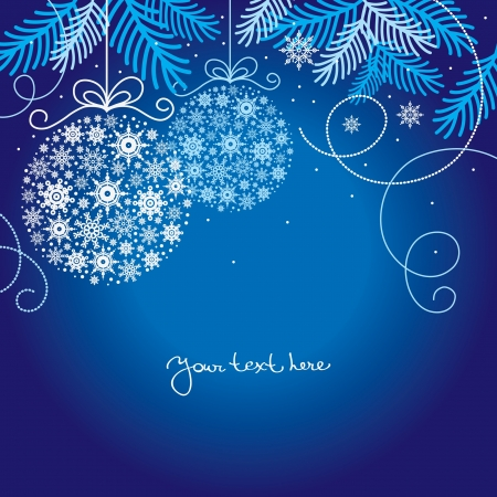 muerdago navide�  � �±o: Elegante fondo de Navidad