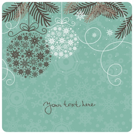 christmas vintage: Retro Christmas background Illustration