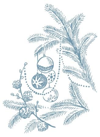Christmas hand drawn illustration Stock Vector - 15904730