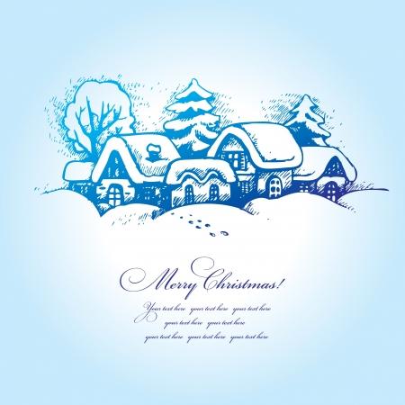 winter landscape: Christmas landscape
