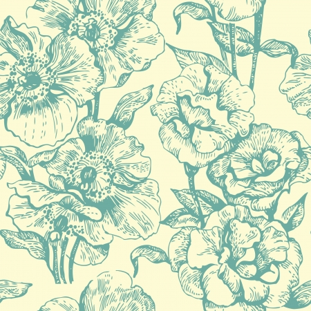 soulful: Seamless floral pattern