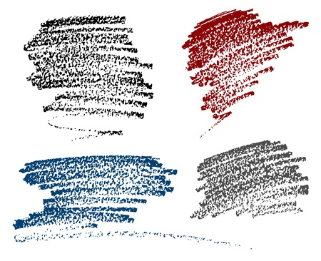 dirt texture: Macchie di gesso Vettoriali