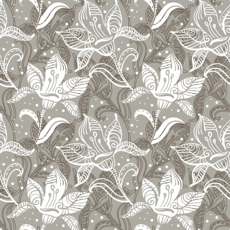 accent abstract: Seamless floral pattern