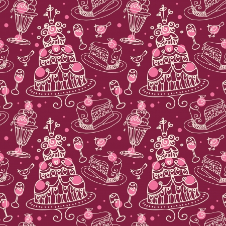 Seamless sweets pattern Stock Vector - 15907326