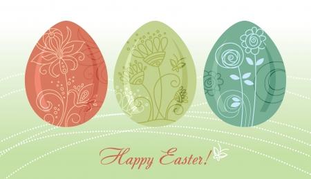 Easter eggs background  Stock Vector - 15907308