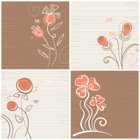 Set of floral backgrounds Stock Vector - 15907300