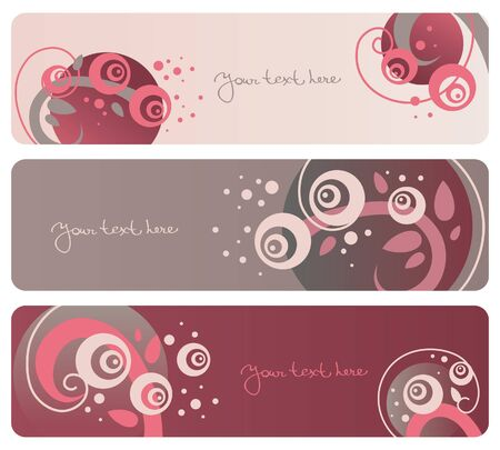 marcadores de libros: Banners Colecci�n floral