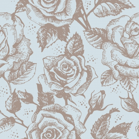 soulful:  Seamless floral pattern with roses