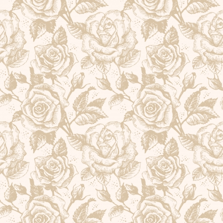 Seamless floral pattern with roses Stock Vector - 15907448