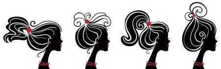 Beautiful women silhouettes Stock Vector - 15905081