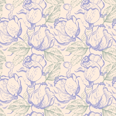 Seamless floral pattern with roses Stock Vector - 15907358