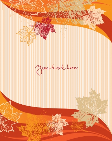 Autumn background, vector  Stock Vector - 15907447