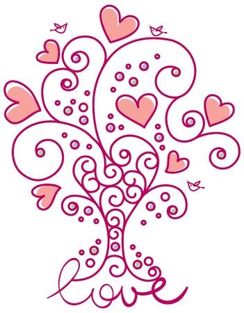 Floral design of Valentine�s day Vector