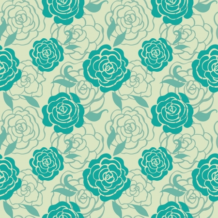 Seamless floral pattern with roses Stock Vector - 15907273