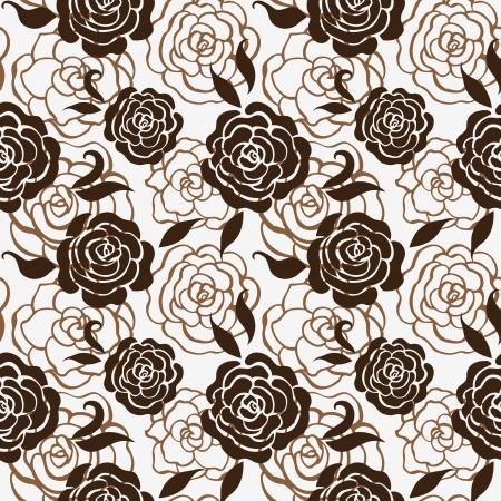 Naadloze bloemmotief met rozen Vector Illustratie