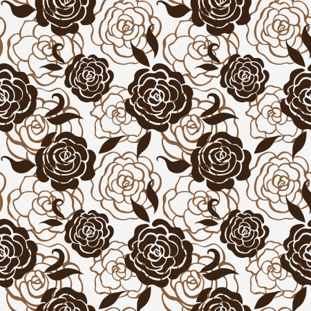 arrangement: Seamless floral pattern with roses